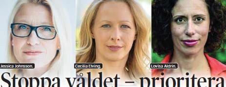 ??  ?? Jessica Johnsson. Cecilia Elving. Lovisa Aldrin.