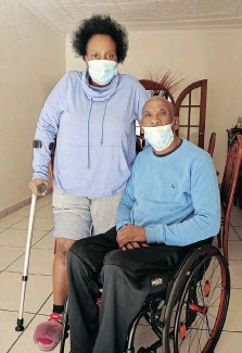 ?? | Pictures: TIMOTHY BERNARD African News Agency (ANA) ?? JOSEPH Maseko and his wife-turned-care giver Portia Radebe.