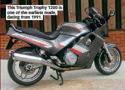 This Triumph Trophy 1200 Is One Of The Earliest Made Dating From 1991
