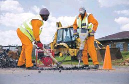 ??  ?? More than 13 000km of roads were maintained over the last five years, costing R1.6-billion.