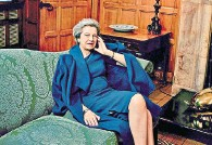 ??  ?? A tough job and a love of clothes: Theresa May in American Vogue