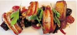 ?? PETER HUM/OTTAWA CITIZEN ?? This pork belly dish at Play Food & Wine elevated the humble cut of pork.