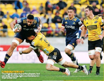??  ?? COMBINATION KEY The Highlanders have the players, but can they find the right combination in their loose trio?