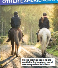 ??  ?? Horse-riding sessions are available for beginners and more experienced riders