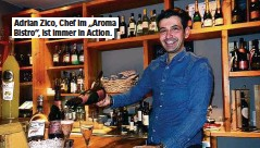 """??  ?? Adrian Zico, Chef im """"Aroma Bistro"""", ist immer in Action."""