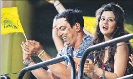?? Vindoo Dara Singh was seen in the Chennai Super Kings camp, happily cheering the team on. PTI FILE PHOTO ??