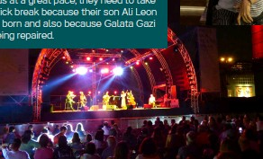 ??  ?? Just as they show up at a number of festivals in Greece and their project yields at a great pace, they need to take a quick break because their son Ali Leon was born and also because Galata Gazi is being repaired.