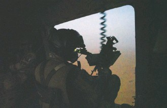 ?? JEROME DELAY/ASSOCIATED PRESS ?? A French soldier on a transport helicopter mans a machine gun in Mali in June. A French drone strike in August killed Adnan Abu Walid al-sahrawi, the leader of the Islamic State in the Greater Sahara.