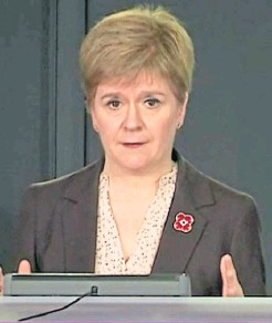 ??  ?? Nicola Sturgeon during the Covid briefing on October 28
