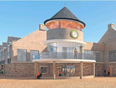 ??  ?? An artist's impression of how the golf centre would look after completion of the extension.