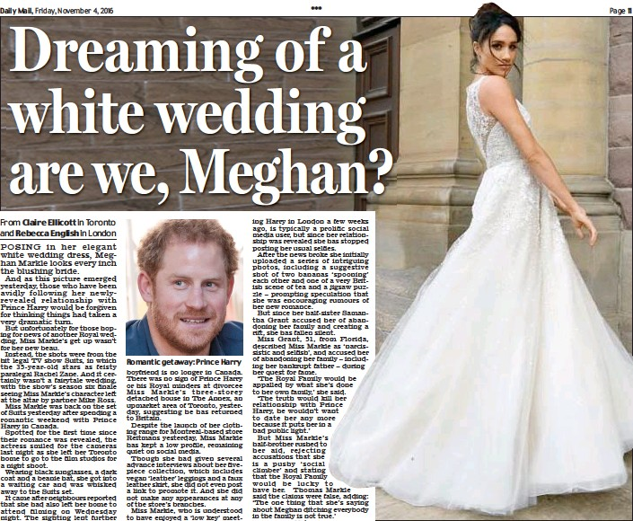 Pressreader Daily Mail 2016 11 04 Dreaming Of A White Wedding