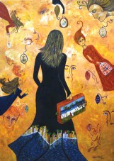 ??  ?? Equipaje (Baggage) Acrylic on canvas / 100 x 70 cm