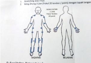 ??  ?? JI JIAN: Pukulan pada 20 tendon dengan tapak tangan