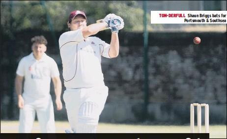 ??  ?? TON-DERFULL Shaun Briggs bats for Portsmouth & Southsea