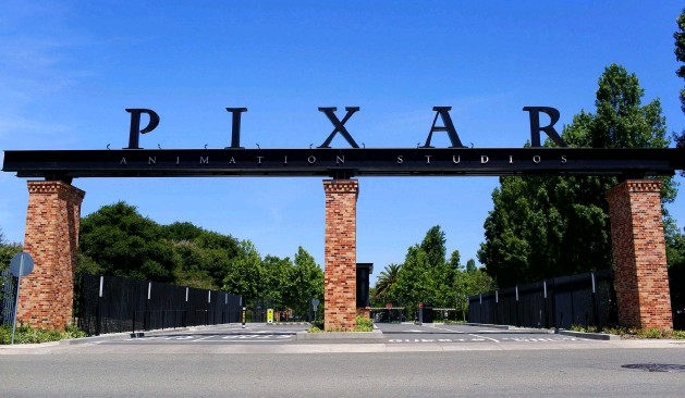 ??  ?? Above: The en­trance to Pixar's cam­pus in Emeryville, Cal­i­for­nia, where they have been based since 2000