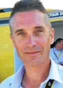 ??  ?? Christophe Le Mével, ancien pro passé par les équipes Crédit agricole, FDJ, Cofidis, est le pilote du directeur général d'ASO, organisateur du Tour.