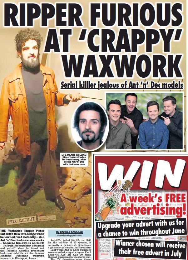 Pressreader Sunday Sport 2016 06 26 Ripper Furious At Crappy Waxwork