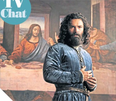 ??  ?? ● Aidan Turner is unrecognisable from his Poldark days in title role of Leonardo
