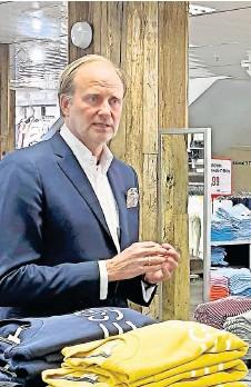 ?? FOTOS: KAUFHAUS STOLZ ?? Für Kaufhaus-Inhaber Martin Stolz ist die Corona-Krise die größte Krise in der Unternehmensgeschichte.