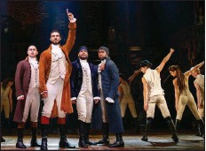 """?? (Special to the Democrat-Gazette/Joan Marcus) ?? A two-week run of """"Hamilton"""" in March 2022 tops the 2021-22 Procter & Gamble Broadway Series lineup at Fayetteville's Walton Arts Center."""
