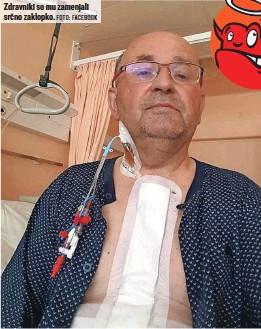 ?? FOTO: FACEBOOK ?? Zdravniki so mu zamenjali srčno zaklopko.