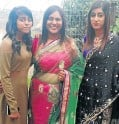 ?? Pic­tures: Rajesh Jan­ti­lal ?? Mur­der vic­tims Rack­elle, Jane and Den­isha Govin­d­samy, above, were laid to rest yes­ter­day af­ter a fu­neral ser­vice at the Faith Re­vival Cen­tre in Dur­ban, right.
