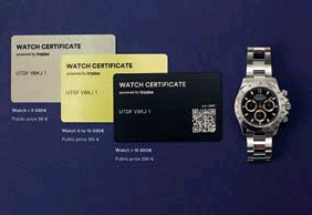 ??  ?? The Watch card Certificate is machined from the same material as most watches: steel.