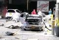 ??  ?? La explosión del carro ocurrió en el barrio Buenos Aires.
