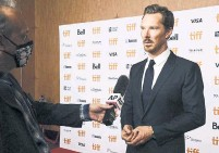 """?? DOMINIK MAGDZIAK GETTY IMAGES ?? Benedict Cumberbatch at the TIFF premiere of """"The Power of the Dog,"""" a movie that Shinan Govani says makes Cumberbatch an Oscar front-runner coming out of the festival."""