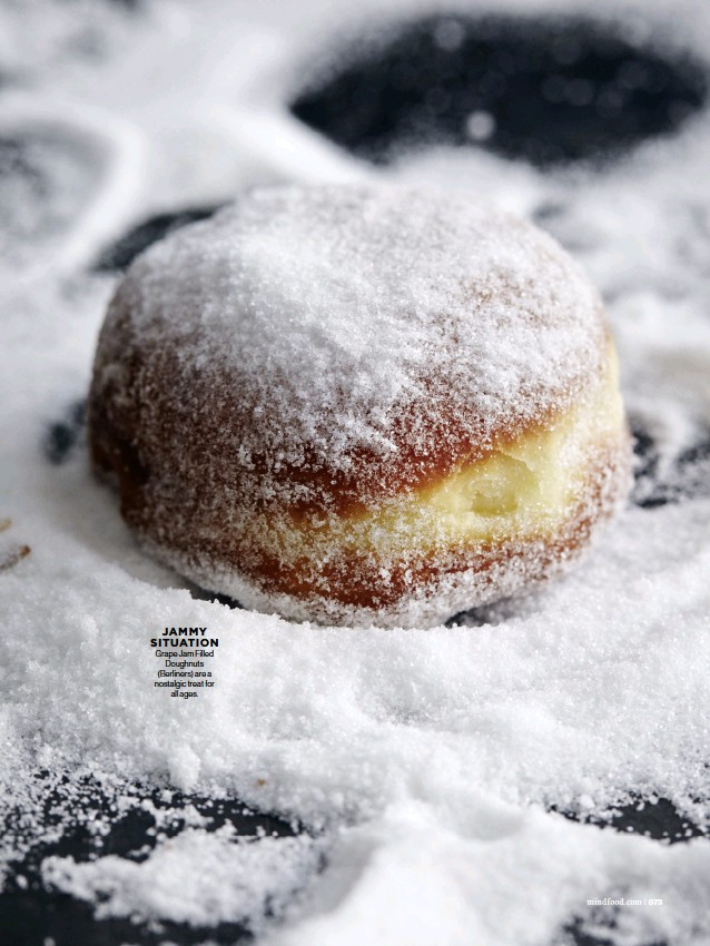 ??  ?? Grape Jam Filled Doughnuts (Berliners) are a nostalgic treat for all ages. JAMMY SITUATION