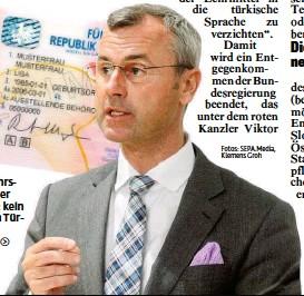 ?? Fotos: SEPA. Media, Klemens Groh ?? Verkehrsminister Hofer: kein Test in Türkisch mehr.