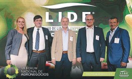 ??  ?? Con la presencia de Gabriel Delgado, el Foro Lide analizó el rol del agro en estos momentos de transición política.