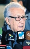 ?? SANA/THE AS­SO­CI­ATED PRESS ?? Lakhdar Brahimi, UN-Arab League deputy to Syria, charged with push­ing to end Syria's civil war, has called for a tran­si­tional government to run the coun­try un­til new elec­tions are held.