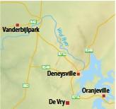 ??  ?? Vanderbijlpark Deneysville De Vry Oranjeville