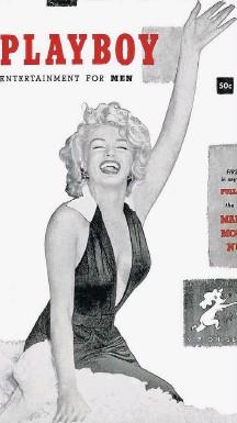 ??  ?? Estrela. Marilyn Monroe foi a capa da 1ª 'Playboy', em 1953