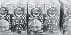 ?? JOE RAEDLE, GETTY IMAGES ?? Even macaroni and cheese is getting the Star Wars treatment.