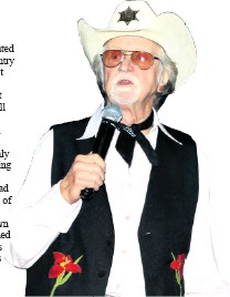 ??  ?? Country legend Tommy Dell not only wowed the crowd, but also had them in stitches with his funny stories and jokes