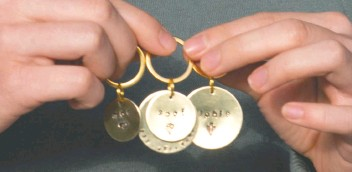 ?? Damon MacLean ?? Some of the customized dog tags available through the shop.