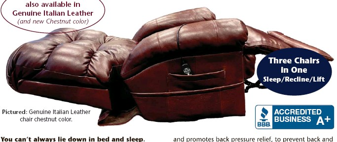 ??  ?? Pictured: Genuine Italian Leather chair chestnut color.