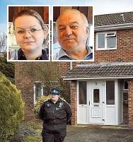 ??  ?? Das Nervengift wurde auf der Türklinke von Sergej Skripals Haus entdeckt. Er und seine Tochter ( kl. Fotos li.) überlebten.