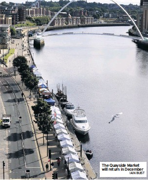 ?? IAIN BUIST ?? The Quayside Market will return in December