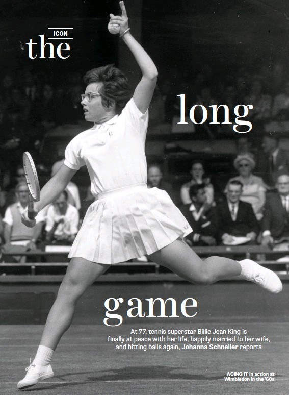 ??  ?? ACING IT In action at Wimbledon in the '60s