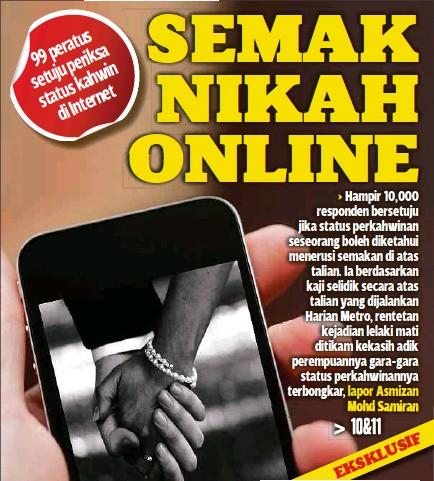 Pressreader Harian Metro 2016 10 20 Semak Nikah Online