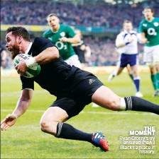 ??  ?? THE MOMENT Ryan Crotty's try ensured the All Blacks a place in history.