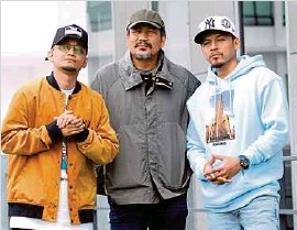 ?? (Foto Eizairi Shamsudin/bh) ?? Nasir bekerjasama dengan Kmy Kmo dan Luca Sicta melalui lagu Zuhud.
