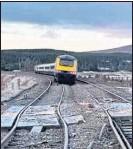 ??  ?? The derailed train at Dalwhinnie