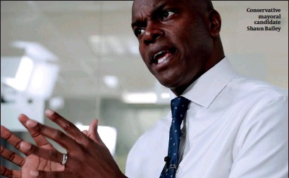 ?? PHOTO: ALAMY ?? Conservative mayoral candidate Shaun Bailey