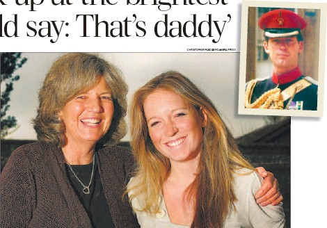 ?? CHRISTOPHER PLEDGER/CAMERA PRESS ?? Daddy's girl: Alice Lindsay, above with her mother Sarah Horsley, is very much like her father, Major Hugh Lindsay, inset. He died on a skiing trip with Prince Charles, pictured top left with Diana, Princess of Wales . Below left, Princes William and...