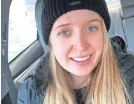 ?? PROVIDED BY SARAH MANOS ?? Sarah Manos in Chicago in February 2020.
