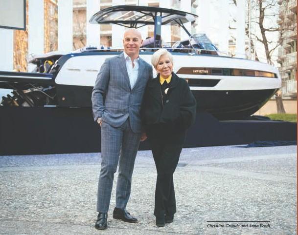 ??  ?? Christian Grande and Anna Fendi